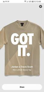 Jordan X Travis Scott Short Sleeve Tshirt Khaki/desert