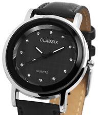 Classix Damenuhr mit Lederimitationsarmband Uhr Armbanduhr Rp4782100023