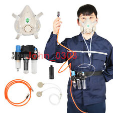 Three-In-One Function Supplied Air Fed Respirator Kit System Half Face Gas Mask