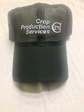 Crop Production Services CPS Hat Green Mesh Strapback Farm  Cap Agriculture