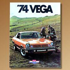 Mint NOS 1974 Chevrolet Vega Glossy Color 16 page Dealer Sales Brochure #2677