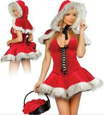 Women Sexy Xmas Miss Santa Claus Costume Christmas Fancy Dress