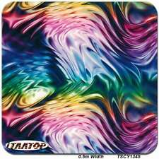 "HYDROGRAPHIC FILM Colorful Ink hydro dipping 38.5"" x 19"""