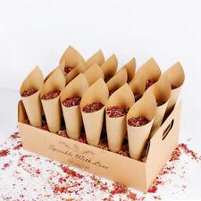 Rustic Kraft Paper Confetti Cone Holder Flower Petal Wedding Favour Party Decor