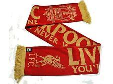 Liverpool FC Schal YOU'LL NEVER WALK ALONE rot 142x19 cm Goldprint Fanartikel