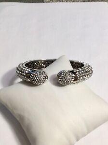 Joan Boyce White Crystal Medium-Large Bracelet