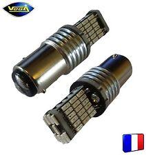 2 ampoules 45 leds 4014 SMD P21/5W BAY15D rouge 1000 lumens 12V