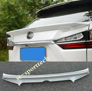 For Lexus RX RX350 RX450 16-19 (unpainted) Rear Tail Trunk Spoiler Wing Lip Trim