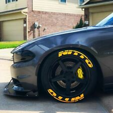 Tire Lettering Nitto stickers Yellow -1.25 inch'-15''16''17''18''19'20 (8 KİT)