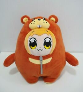 "Pop Team Epic Takeshobo Popuko BIG Bear Costume Plush 11"" TAG Toy Doll Japan"