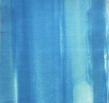 SCHUMACHER Watercolor aqua printed linen cotton remnant new