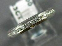 ANTIQUE .63CT ROUND CUT DIAMOND 18KT WHITE GOLD 3D CLASSIC FILIGREE RING #10894