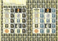 LS94 2015 Penny Black 175th Anniversary Smilers Sheet. Second, vertical crease.