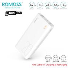 ROMOSS Powerbank 20000mAh Externer Zusatz-Akku 2USB Tragbare Ladegerät Für Handy
