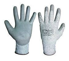 1 PAIR ANTI CUT RESISTANT WORK SAFETY GLOVES BUILDERS GRIP PROTECTION LEVEL 5