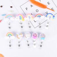 Lollipop Rainbow RReel Badge Porte-clés Clip Carte d'identité Tags CeintITH