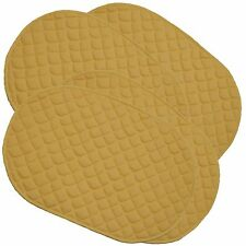 Set of 4 Kitchen Dining Washable Quilted Placemats Yellow Colour Mat Mats