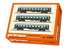 """Primex 41920 Schnellzugwagen-Set """"Tin Plate"""" der DB 3-teilig #NEU in OVP#"""