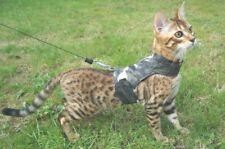 LAND O BURNS BENGALS CAT HARNESS / WALKING JACKET ARCTIC CAMOUFLAGE - LARGE
