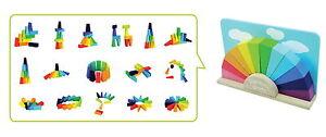 Bauklötze Regenbogen farbig verschiedene Formen aus Holz NEU