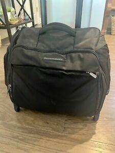 "Briggs & Riley Transcend 15.5"" BLACK Rolling Cabin Bag Upright Luggage TUC 115-4"
