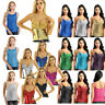 Women Bling Sequin Tank Top Blouse Glitter Camisole Clubwear Party T-shirt Vest