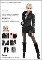 1/6 Female Leather Jacket Coat Model Set DOLLSFIGURE Fit 12'' Action Figure Body