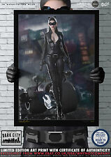 Catwoman (TDKR, Cat) Anne Hathaway Dark City Comic Art Print Series 200 Edition