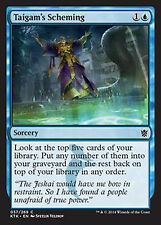 Taigam's Scheming  NM  x4  Khans of Tarkir MTG Magic Blue Common