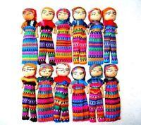 Worry Dolls 3 Inch Size - One Dozen Guatemala 6 Boys and 6 Girls