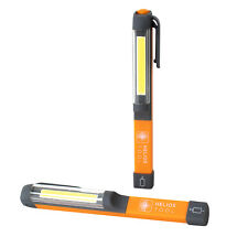 Helios Led Portable Handheld Inspection Flash Light Batteries Included (2 Pack)