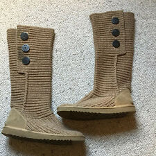 Ugg Ladies Knitted Boots, UK Size 7.5, EU 40,Light Brown, Used