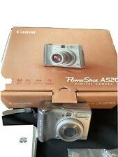 Canon Power Shot A520 Digital Camera Photography 4.0 mega pixels 4x zoom