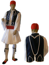 Greek Traditional Costume TSOLIAS S-XL Men Man white Stripes MARK675