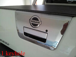 CHROME TAILGATE HANDLE COVER FOR NISSAN FRONTIER NAVARA D40 PICKUP 05-14 09 12