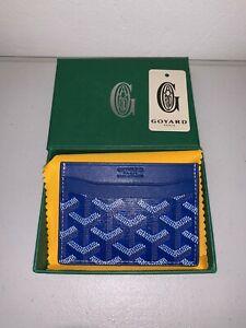 Blue Goyard Saint Sulpice Card Holder Wallet