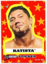"BATISTA ""STICKER INSERT CARD #3"" WWE TOPPS HERITAGE"