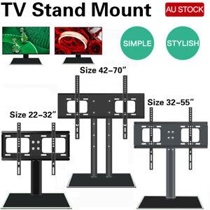 AU Artiss Table Top TV Stand Desktop Bracket  Mount LED LCD 32 42 50 55 inch