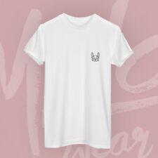 Frenchie Geometric Black Print Hipster Cute Petit French Bulldog Pocket T-shirt