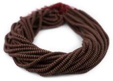 Brown Jade Saucer Beads 5mm Afghanistan Gemstone 15 Inch Strand