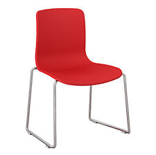 Dal Acti Chrome Sled Base Chair Red