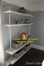 Rustic Industrial Pipe Shelf Storage TV Unit Wall Mount Shelving Brackets BS034C