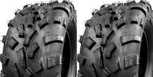 "Two New 25x10-12 TRAILMAX TIRE SET ATV TIRES 25"" 25x10x12"