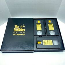 The Godfather 1902-1959 - The Complete Epic Vhs, 1990, 3-Tape Set Free Ship Usa