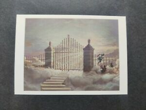 Banksy, The Walled Off Hotel,  Opening Postcard, Rare. Pearly Gates