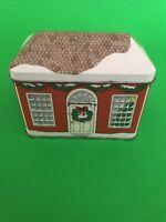 Collectors tin - Avon Tin of Bristol - New England Cottage Christmas