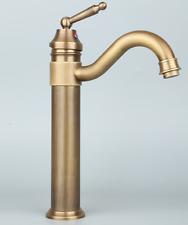 Retro Einhebel Wasserhahn Bad Waschbecken Mischbatterie Antik Messing Armatur DE