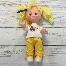 "Vintage Ud Doll Inc Uneeda Yellow Hair 11"" Poseable Dressed Hong Kong"