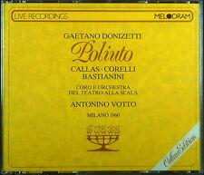 2eCD DONIZETTI - poliuto, Milano 1960, Callas, Franco Corelli, Votto