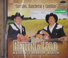 Dueto Bertin y Lalo Maldito y Bendito Dinero CD New Nuevo